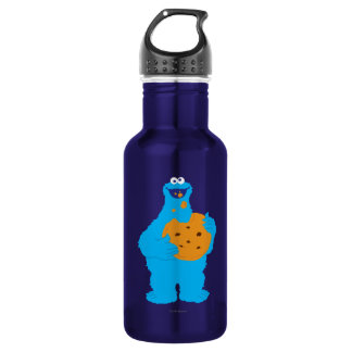 Cookie Monster Graphic Water Bottle
