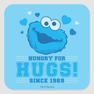 Cookie Monster Hugs Square Sticker