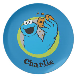 Cookie Monster Image Dinner Plate