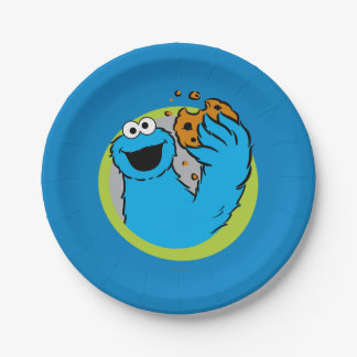 Cookie Monster Image Paper Plate