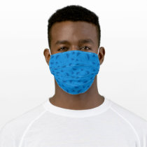 Cookie Monster | Me Awesome Blue Pattern Adult Cloth Face Mask
