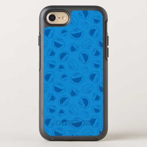 Cookie Monster | Me Awesome Blue Pattern OtterBox Symmetry iPhone SE/8/7 Case