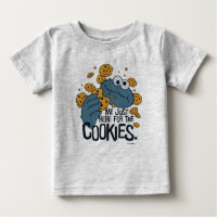 Cookie Monster | Me Just Here for the Cookies Baby T-Shirt