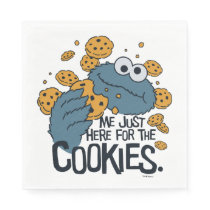 Cookie Monster | Me Just Here for the Cookies Paper Napkin