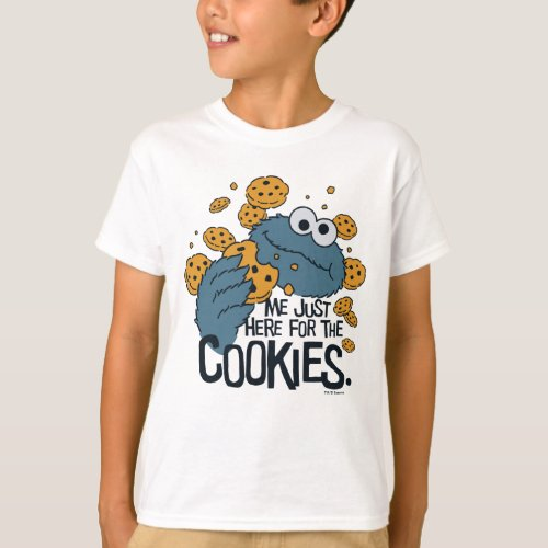 Cookie Monster  Me Just Here for the Cookies T_Shirt