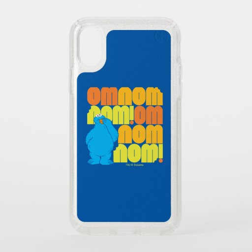Cookie Monster Nom Nom Pattern Speck iPhone X Case