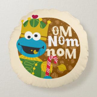 Cookie Monster Nutcracker Round Pillow