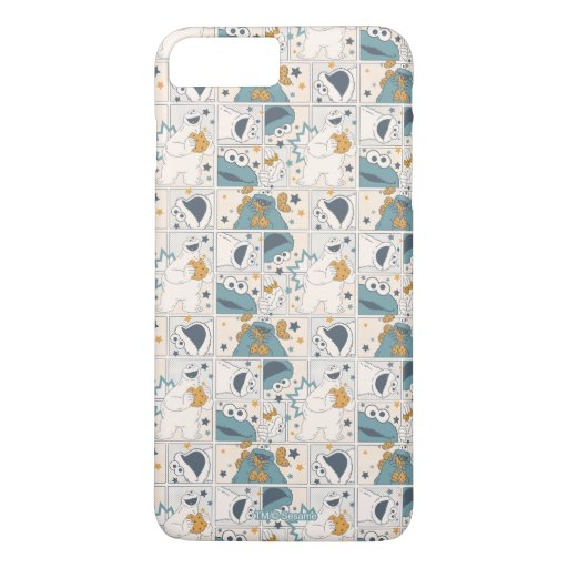 Cookie Monster | Om Nom Nom Comic Pattern iPhone 8 Plus/7 Plus Case