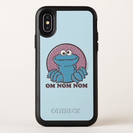 Cookie Monster | Om Nom Nom OtterBox Symmetry iPhone X Case