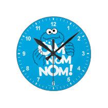 Cookie Monster | Om Nom Nom! Round Clock