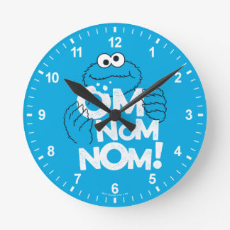 Cookie Monster | Om Nom Nom! Round Clock