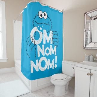Cookie Monster | Om Nom Nom! Shower Curtain
