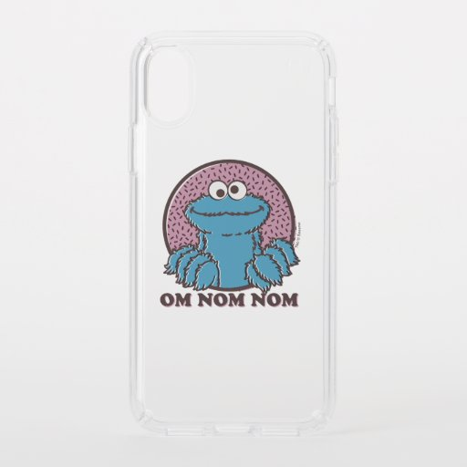 Cookie Monster | Om Nom Nom Speck iPhone X Case
