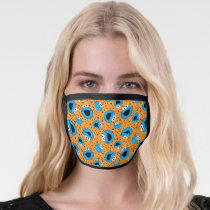 Cookie Monster on Cookie Pattern Face Mask