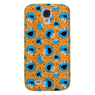 Cookie Monster on Cookie Pattern Galaxy S4 Cover