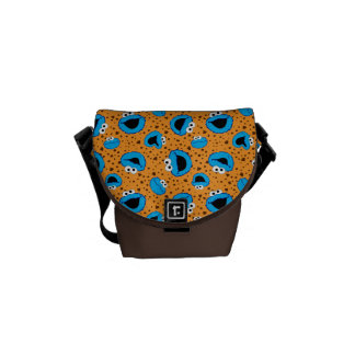 Cookie Monster on Cookie Pattern Courier Bags