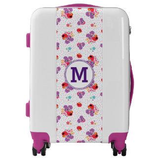 Cookie Monster on Cookie Pattern | Monogram Luggage