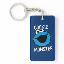 Cookie Monster Pattern Face Keychain