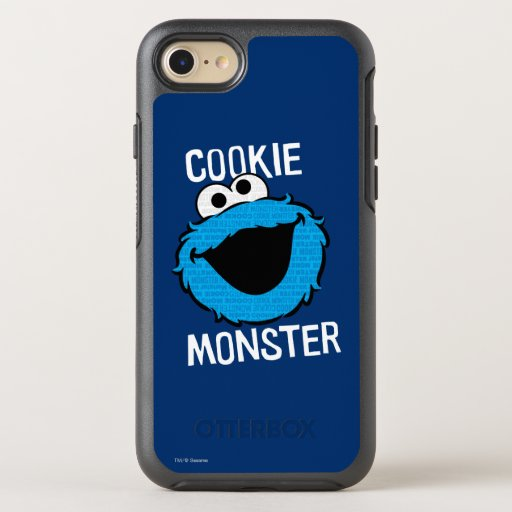 Cookie Monster Pattern Face OtterBox Symmetry iPhone SE/8/7 Case