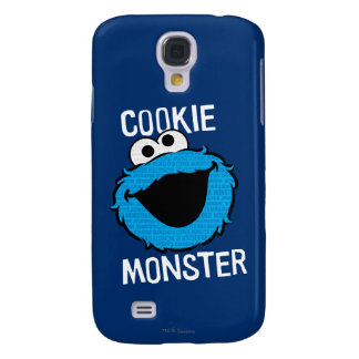 Cookie Monster Pattern Face Samsung Galaxy S4 Case