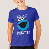 Cookie Monster Pattern Face T-Shirt