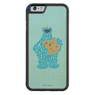Cookie Monster Pattern Fill Carved® Maple iPhone 6 Bumper Case