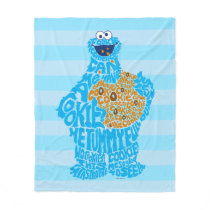 Cookie Monster Pattern Fill Fleece Blanket