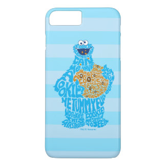 Cookie Monster Pattern Fill iPhone 7 Plus Case