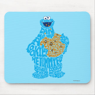 Cookie Monster Pattern Fill Mouse Pad