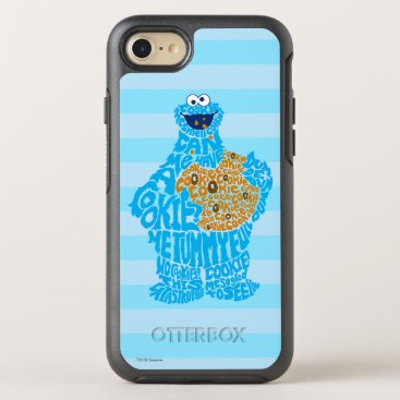 Cookie Monster Pattern Fill OtterBox Symmetry iPhone 8/7 Case