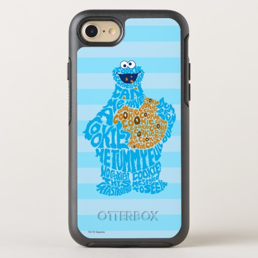 Cookie Monster Pattern Fill OtterBox Symmetry iPhone SE/8/7 Case