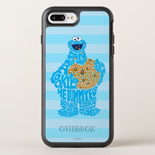Cookie Monster Pattern Fill OtterBox Symmetry iPhone 8 Plus/7 Plus Case