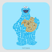 Cookie Monster Pattern Fill Square Sticker