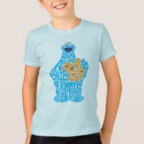 Cookie Monster Pattern Fill T-Shirt