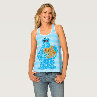 Cookie Monster Pattern Fill Tank Top