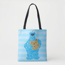 Cookie Monster Pattern Fill Tote Bag