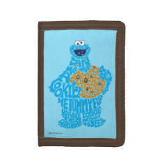 Cookie Monster Pattern Fill Tri-fold Wallets at Zazzle