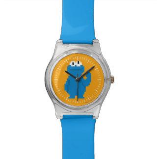 Cookie Monster Pixel Art Wrist Watches