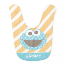 Cookie Monster Polka Dot Face | Add Your Name Bib