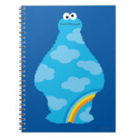 Cookie Monster Rainbows Spiral Note Book