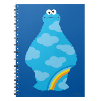 Cookie Monster Rainbows Spiral Notebook