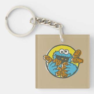 Cookie Monster Retro Keychain