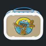 """Cookie Monster Retro Lunch Box<br><div class=""""desc"""">Check out this retro Cookie Monster stuffs his face with cookies!         This item is recommended for ages 2 . &#169;  2014 Sesame Workshop. www.sesamestreet.org</div>"""
