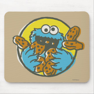 Cookie Monster Retro Mouse Pad