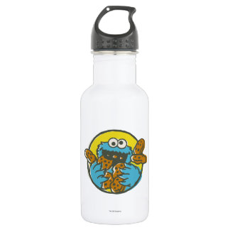 Cookie Monster Retro Stainless Steel Water Bottle