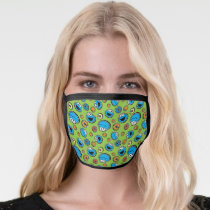 Cookie Monster Sticker Pattern Face Mask