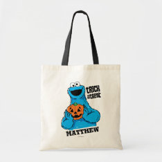 Cookie Monster - Trick Or Treat | Add Your Name Tote Bag at Zazzle