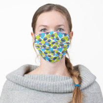 Cookie Monster | Tropical Pattern Adult Cloth Face Mask
