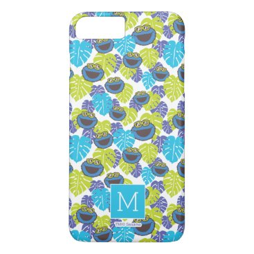Cookie Monster | Tropical Pattern iPhone 8 Plus/7 Plus Case