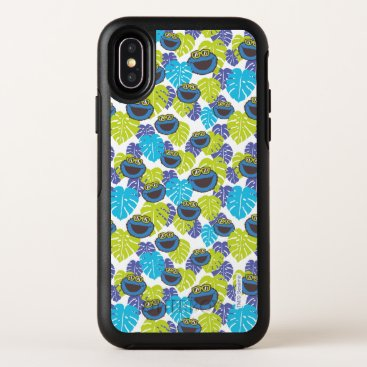 Cookie Monster | Tropical Pattern OtterBox Symmetry iPhone X Case